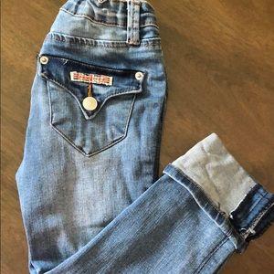 Hudson girl jeans.